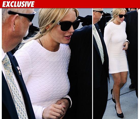 lindsay lohan court dress white. Lindsay Lohan White Dress