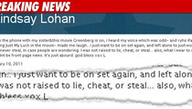 Lindsay Lohan Tweets -- 'I Would Never Steal'