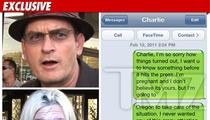 "Charlie's Porn Pal Kacey Jordan Sends Text -- 'I'm Pregnant!"""