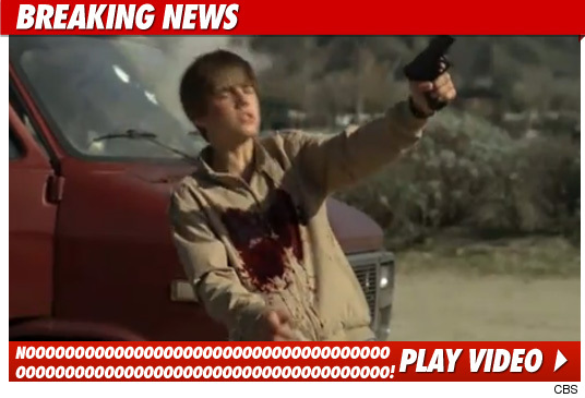 Justin Bieber took at least four shots to the chest in an epic battle with