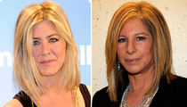 Jen Aniston Goes to the Barbra Shop