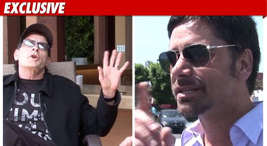 John Stamos and Charlie Sheen