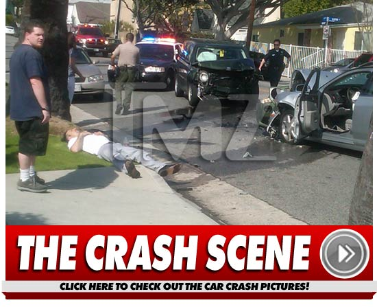 David Arquette Car Crash Pics