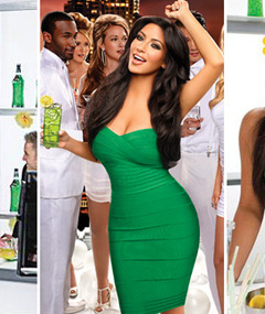 FAB FOTOS: Kim Kardashian Gorgeous in Green for Midori!