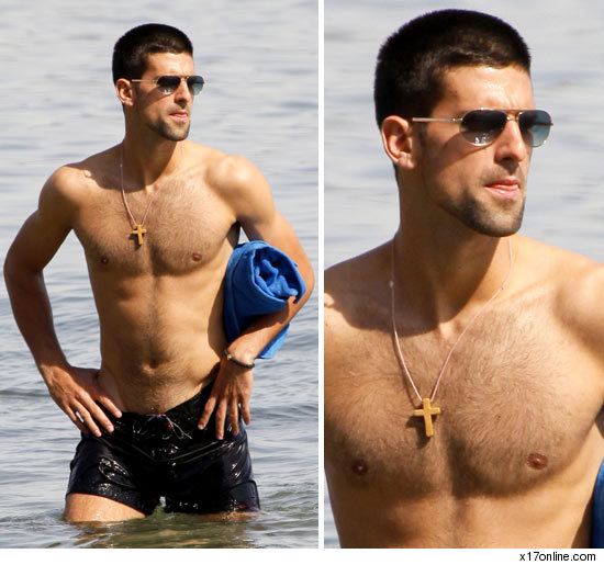 novak djokovic shirtless. Novak Djokovic Shirtless Photo