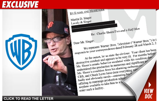 Charlie Sheen Termination Letter