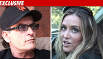 Charlie Sheen & Brooke Mueller -- No Court Tuesday