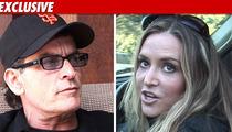 Charlie Sheen & Brooke Mueller -- No Court Tuesday