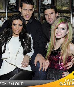 PARTY PICS: Kim Kardashian & Avril Lavigne's Double Date Night!