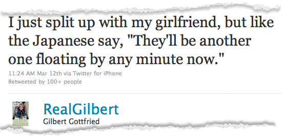 Gilbert Gottfried Japan Jokes