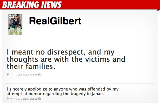 Gilbert Gottfried Apology Twitter