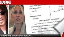 Billy Ray Cyrus Files to Withdraw Divorce