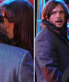 ON THE SET: Lea Michele's 'New Year's Eve' Kiss with Ashton Kutcher!