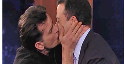 Charlie Sheen Kisses Kimmel, Teases FOX Show