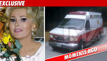 Zsa Zsa Gabor -- Spitting Blood, Rushed to Hospital