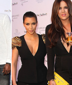 Hot Photos: Kim & Khloe Kardashian Show Cleavage at Fragrance Launch