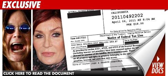 Ozzy Osbourne Taxes