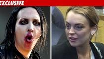 Marilyn Manson & Lindsay Lohan -- Possible Co-Stars