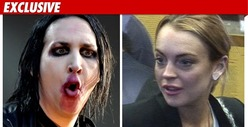 Marilyn Manson &amp; Lindsay Lohan -- Possible Co-Stars