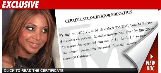 Toni Braxton Debt
