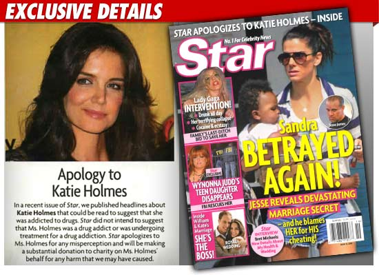 Katie Holmes Star Magazine