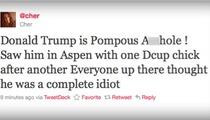 Cher TRASHES Trump -- He's a 'Pompous A-Hole!'