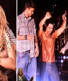 Video: Shakira & Boyfriend Dance, Kiss on Stage!