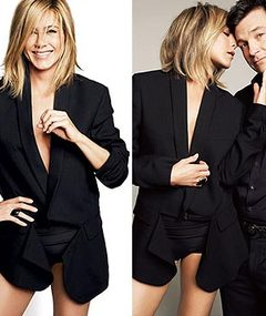 Aniston Goes Pantsless, Braless for Allure!