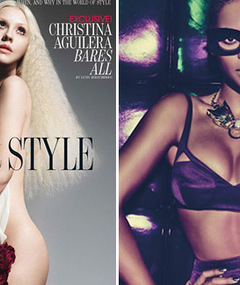 Christina Aguilera Goes Nude, Beyonce Strips for W Magazine