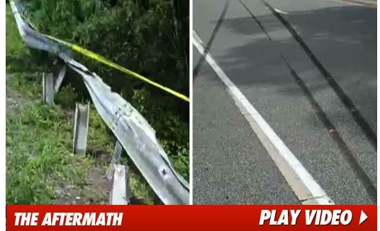 Ryan Dunn Car Crash Scene