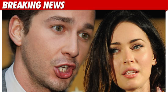 Shia LaBeouf and Megan Fox