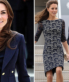 Photos: Kate Middleton's In-Flight Wardrobe Change