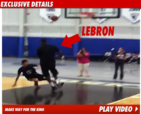 Lebron Dunks on Kid Video