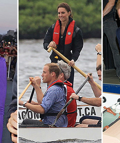 William & Kate in Canada: Races, Food, Fashion & Foosball!