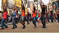 Times Square Treat: Flash Mob Performs Pop Hit