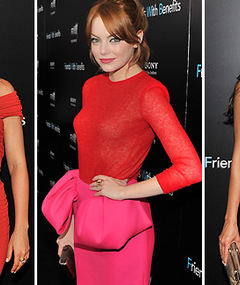 Mila, Emma & Emmanuelle: Red Hot at 'Friends with Benefits' Premiere