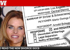 Arnold Files New Divorce Docs -- Kinder to Maria