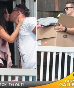 Photos: Casts Kisses &#039;Jersey Shore&#039; Home Goodbye!