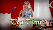 Coco -- Tea Time ... With Her DOG??