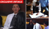 Obama's Burger Lunch -- GARGANTUAN Tip
