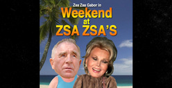 Zsa Zsa Gabor&#039;s Anniversary Party -- Let Her Eat Cake