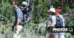 Ryan Reynolds &amp; Sandra Bullock On Vacation, Take a Hike in Wyoming