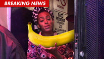 Solange Knowles -- Cop Drama Over MASSIVE Banana