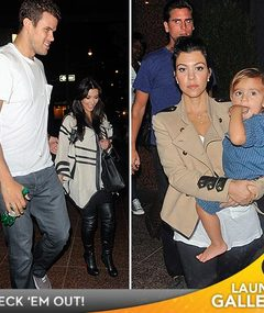 Photos: Kris Humphries, Kim K. & Kourtney Land in NYC