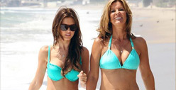 Audrina & Mom -- Bikini Bonding Time
