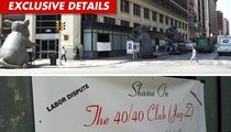 Jay-Z's 40/40 Club -- Union Protests Have Turned Racial