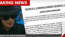Conrad Murray Jury Questionnaire