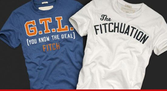 Abercrombie & Fitch GTL and Fitchuation T-shirts