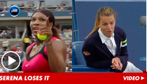 Serena Williams -- Cited for Verbal Abuse