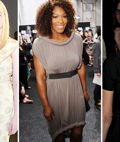 Fashion Week: Serena Williams, Fannings &amp; Ashlee&#039;s Cleavage